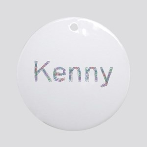 Kenny Paper Clips Round Ornament