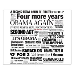 Obama Re-Elected Headline Posters