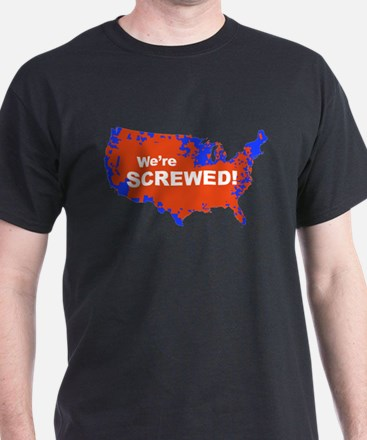 We are Screwed! 2012 Election Map T-Shirt