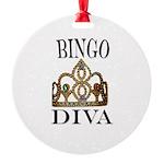 BINGO DIVA Round Ornament
