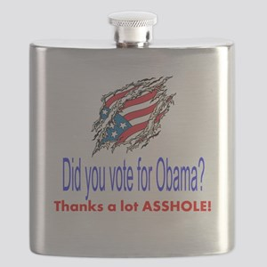 did you vote for obama? thanks a lot asshole! Flas