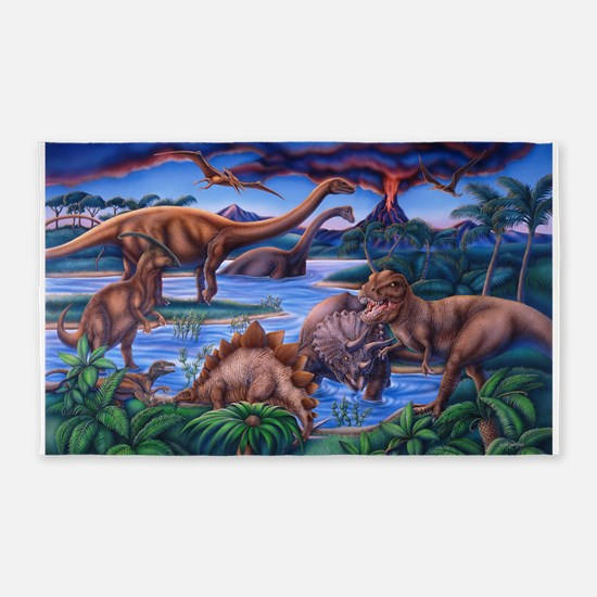 Dinosaurs 3'x5' Area Rug