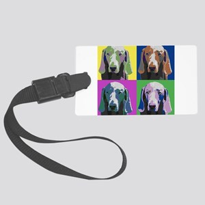 Weimaraner a la Warhol Large Luggage Tag