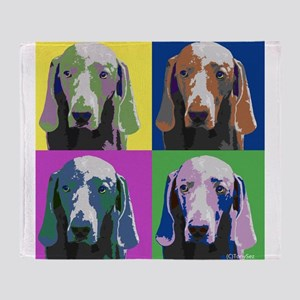 Weimaraner a la Warhol Throw Blanket