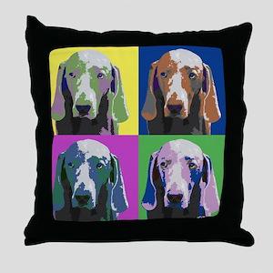 Weimaraner a la Warhol Throw Pillow