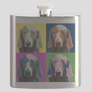 Weimaraner a la Warhol Flask