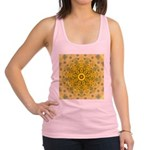 Yellow Sunflower Fractal Racerback Tank Top
