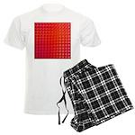 Red Retro Squares Pattern Men's Light Pajamas