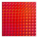 Red Retro Squares Pattern Square Car Magnet 3