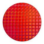 Red Retro Squares Pattern Round Car Magnet