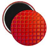 Red Retro Squares Pattern Magnet