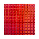 Red Retro Squares Pattern Queen Duvet