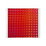 Red Retro Squares Pattern Throw Blanket