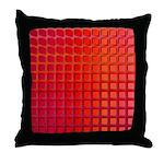 Red Retro Squares Pattern Throw Pillow
