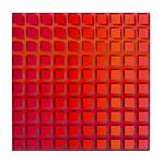 Red Retro Squares Pattern Tile Coaster