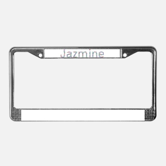 Jazmine Paper Clips License Plate Frame