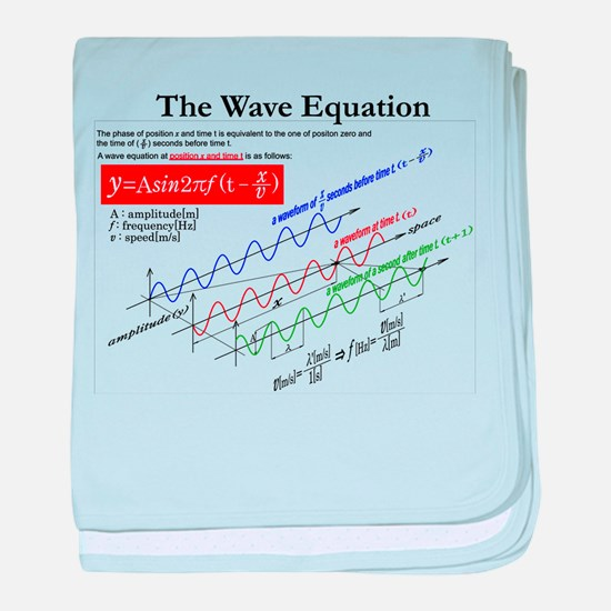 The Wave Equation baby blanket