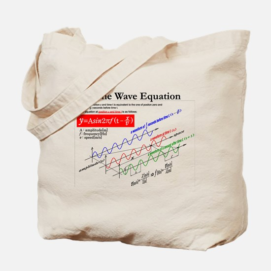 The Wave Equation Tote Bag