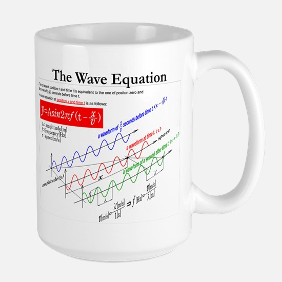 The Wave Equation Large Mug