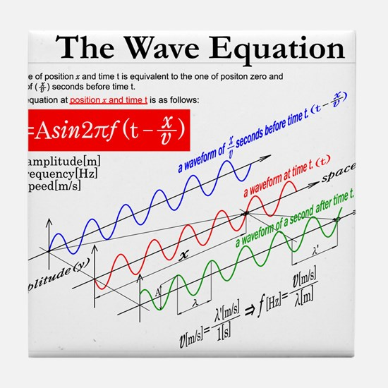 The Wave Equation Tile Coaster