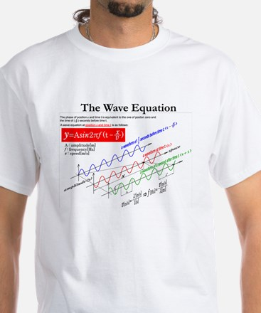 The Wave Equation White T-Shirt