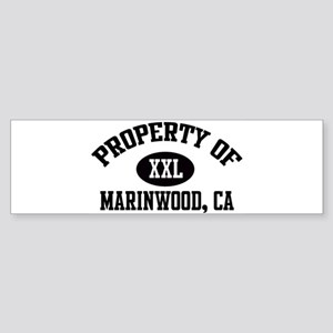Property of MARINWOOD Bumper Sticker