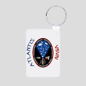 STS 125 Atlantis NASA Aluminum Photo Keychain