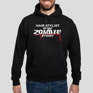Hair Stylist by Day Zombie by Night Hoodie (dark)