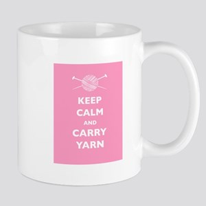 Keep Calm Carry Yarn Mug