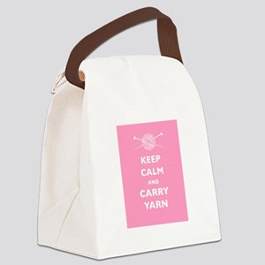 Keep Calm Carry Yarn Canvas Lunch Bag