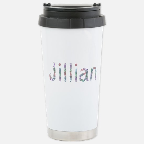 Jillian Paper Clips Stainless Steel Travel Mug