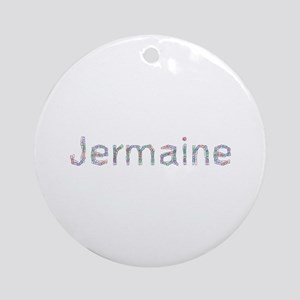 Jermaine Paper Clips Round Ornament