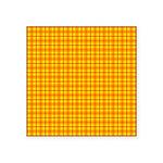 Orange Gingham Square Sticker 3