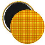 Orange Gingham Magnet