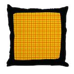 Orange Gingham Throw Pillow