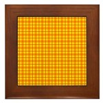 Orange Gingham Framed Tile
