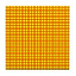 Orange Gingham Tile Coaster