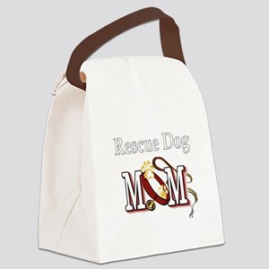 1 rescue dog darks Canvas Lunch Bag