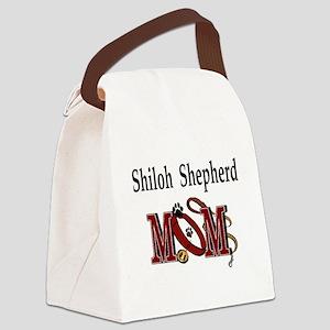 Siberian Husky mom darks Canvas Lunch Bag