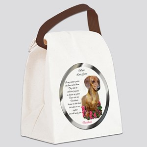 Dachshund banded Canvas Lunch Bag