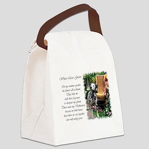 dalmatian summer garden poem Canvas Lunch Bag