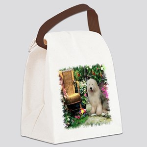 garden gate olde english 3 Canvas Lunch Bag