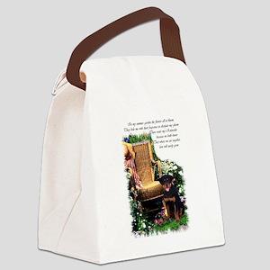 garden rottweiler 1 Canvas Lunch Bag
