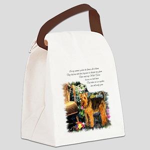welsh terrier garden 2 Canvas Lunch Bag