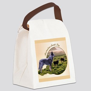 Australian Cattle Dog Canvas Lunch Bag
