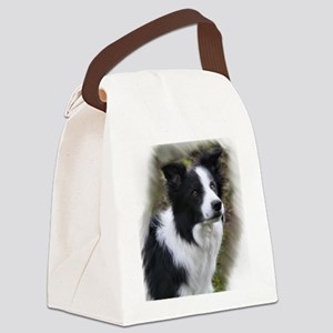 Border Collie Art Canvas Lunch Bag