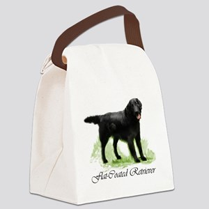 pd flatcoat square 2 Canvas Lunch Bag
