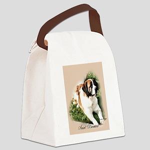 Saint Bernard Art Canvas Lunch Bag