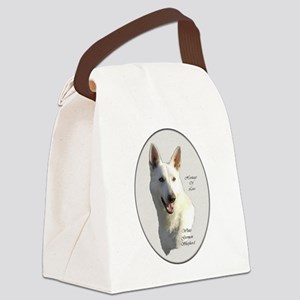 White German Shepherd Canvas Lunch Bag
