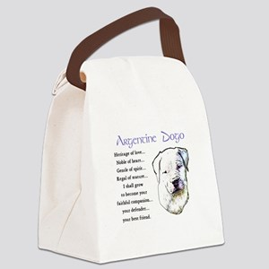 Argentine Dogo Canvas Lunch Bag